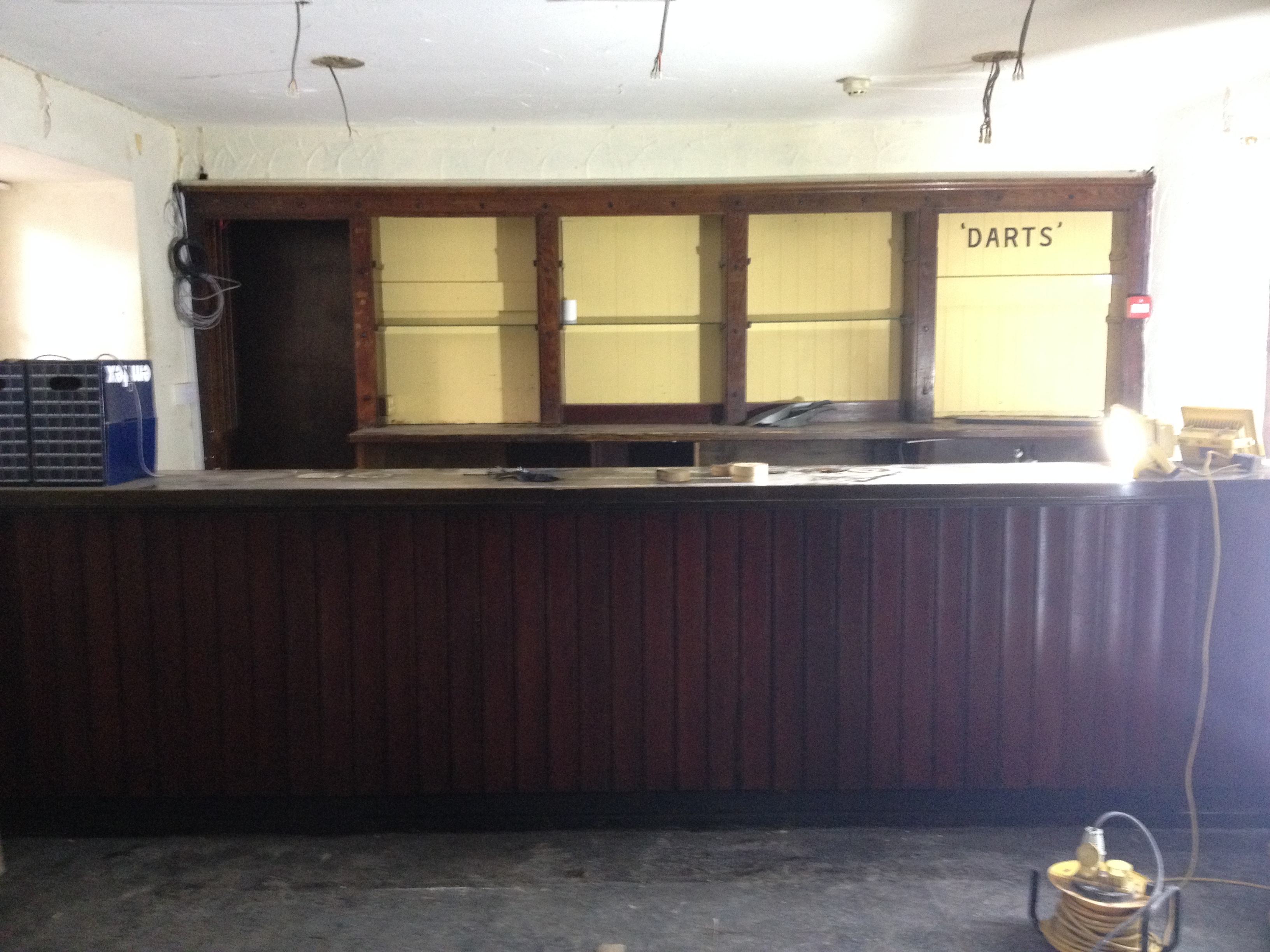 The bar is stripped